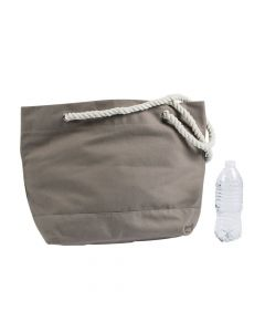 Grey Tote with Rope Handles