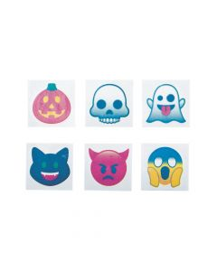 Halloween Emoji Temporary Tattoos