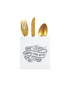 Happily Ever After Scalloped Cutlery Holders