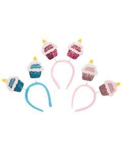 Happy Birthday Cupcake Head Boppers