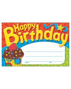 Happy Birthday The Bake Shop Award Certificates