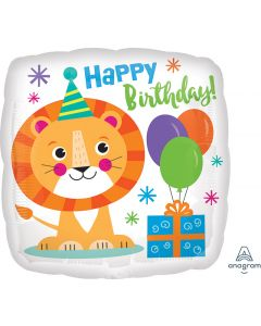 Happy Lion Birthday Balloon