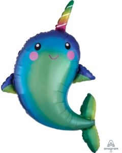 Happy Narwhal Super Shape Balloon