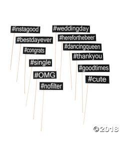 Hashtag Photo Stick Props