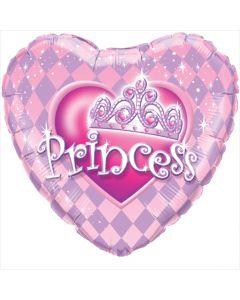 Heart Princess Tiara Foil Balloon