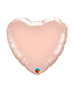 Heart Rose Gold Plain Foil Balloon