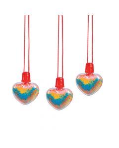 Heart Sand Art Bottle Necklaces