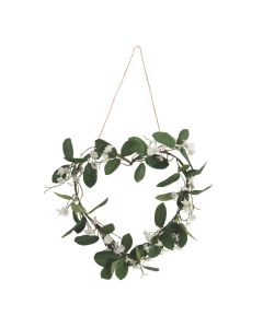 Heart-Shaped White Faux Floral Wreath