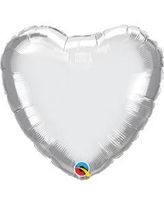 Heart Silver Foil Balloon