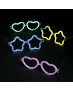 Heart and Star Glow Glasses