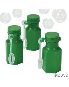 Hexagon Green Bubble Bottles