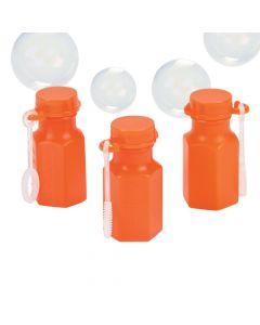 Hexagon Orange Bubble Bottles