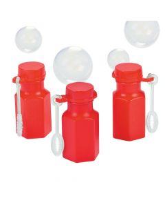 Hexagon Red Bubble Bottles
