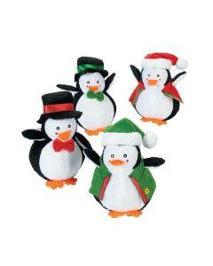 Holiday Dressed Stuffed Penguins
