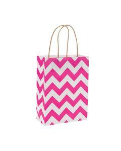 Hot Pink Chevron Gift Bags