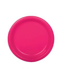 Hot Pink Plastic Dinner Plates