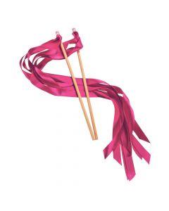 Hot Pink Ribbon Wands