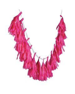 Hot Pink Tassel Garland