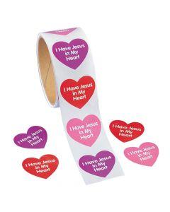 I Have Jesus in My Heart Sticker Rolls