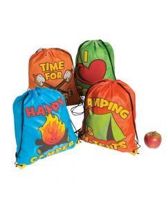 I Love Camp Drawstring Backpacks
