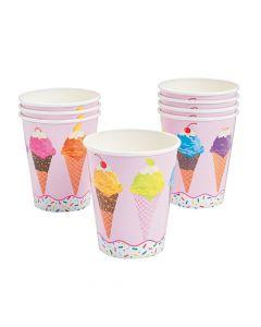 I Scream for Ice Cream Paper Cups