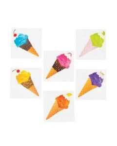 I Scream For Ice Cream Party Tattoos