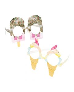Ice Cream and Ice Pop Paper Glasses