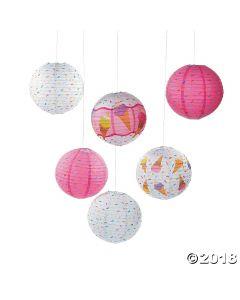 Ice Cream Party Hanging Paper Lanterns