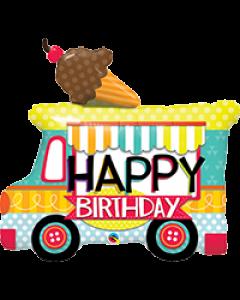 Ice Cream Truck Foil Balloon