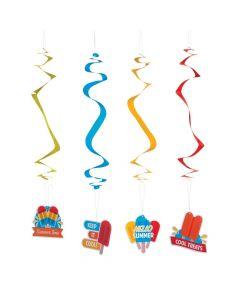 Ice Pop Party Hanging Swirls