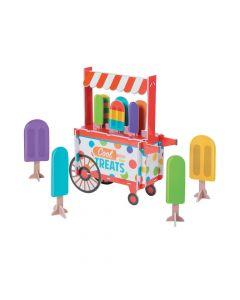Ice Pop Party Treat Cart Centerpiece Set