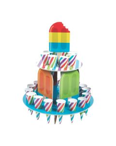 Ice Pop Party Treat Stand with Cones