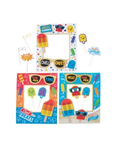 Ice Pop Photo Props with Glitter