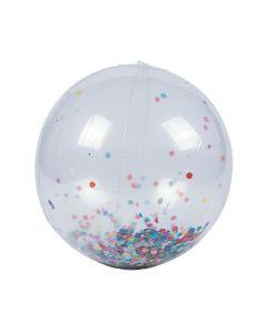 "Inflatable 11"" Large Confetti Beach Balls"