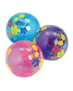 "Inflatable 5"" Hibiscus Mini Beach Balls"