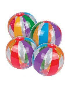 Inflatable Clear Rainbow Beach Balls