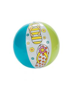 Inflatable Color Your Own Flip Flop Beach Balls