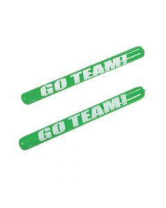 Inflatable Green Go Team Noisemaker Sticks
