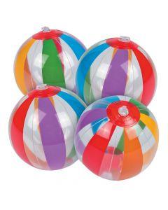 Inflatable Mini Clear Rainbow Beach Balls