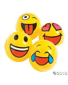 Inflatable Mini Emoji Beach Balls