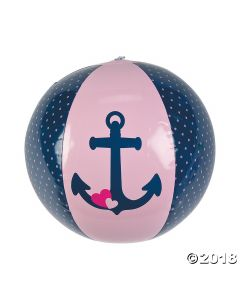 Inflatable Nautical Girl Beach Balls