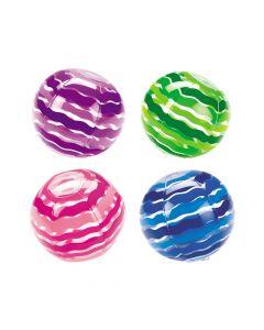 Inflatable Striped Beach Balls