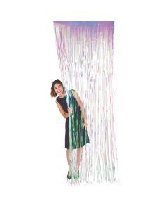Iridescent Fringe Door Curtain