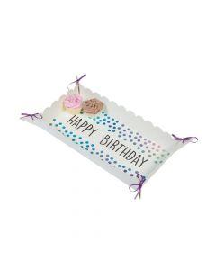 Iridescent Happy Birthday Food Trays