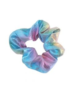 Iridescent Rainbow Scrunchies