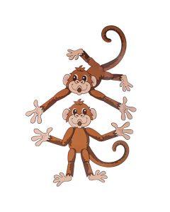 Island VBS Monkey Jointed Cutouts
