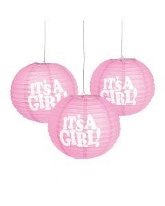 It's a Girl Hanging Paper Lanterns