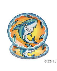 Jawsome Shark Paper Dessert Plates
