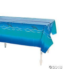 Jawsome Shark Plastic Tablecloth