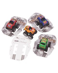 Jesus Crushed My Sins Pullback Trucks with Card
